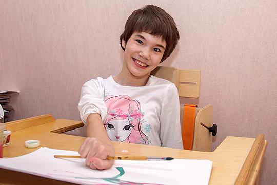 У Миланы Миннахметовой детский церебральный паралич, спастический тетрапарез — последствия полученной родовой травмы
