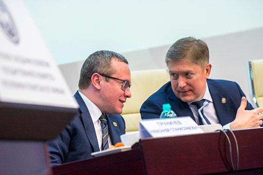 Эксперты в один голос ставят на первую позицию первого Рустама Нигматуллина (справа). Александра Груничева (слева) участники рынка и инсайдеры называют фигурой влиятельной, хотя роль для них негативна