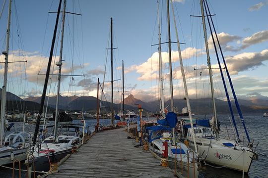 Антарктические экспедиции отменили. Порт заполнился кораблями, вставшими наякорь. Город наводнился высаженными наберег туристами