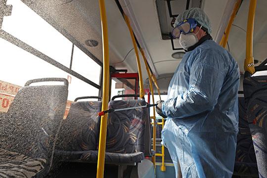 «Продолжается обязательная дезинфекция салонов автобусов, закупили 3 тыс. масок для водителей и кондукторов»