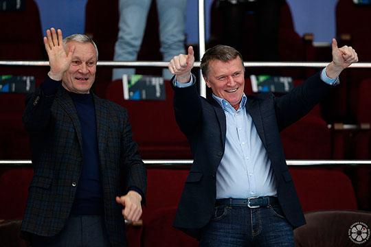 Сергей Чернышов (справа): «Нам было бы интереснее выиграть титул на площадке. Но в нынешних форс-мажорных обстоятельствах федерация решила правильно»