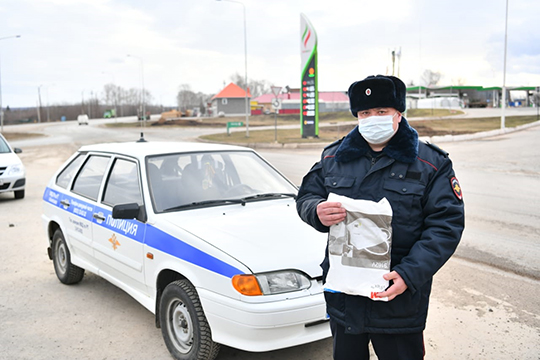 2апреля состоялось вручение очередной партии средств индивидуальной защиты сотрудникам МВД вАльметьевском районе