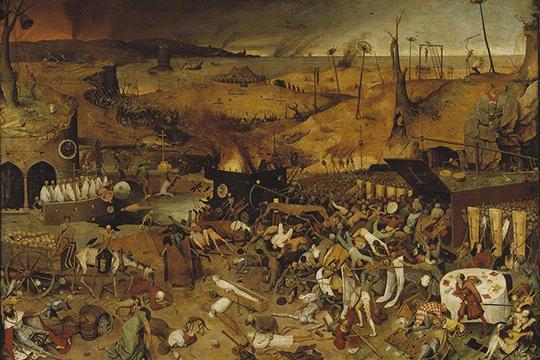 Одной изсамых разрушительных вистории человечества была вторая пандемия чумы, которая началась спечально известной черной смерти (black death, 1346–1353)»