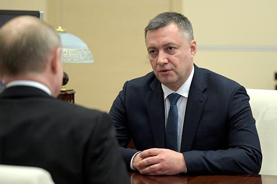 Улучшил свои показатели игубернатор Иркутской области,Игорь Кобзев, переместившись с8-го на6-е место благодаря сотрудничеству скрупным бизнесом