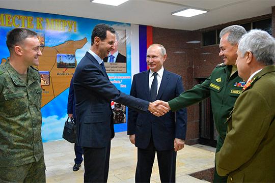 «Полет Владимира Путина в Дамаск 7 января и его встреча с Башаром Асадом, я считаю, предотвратили войну. Это ведь было очень рискованно, но Путин на это пошел»