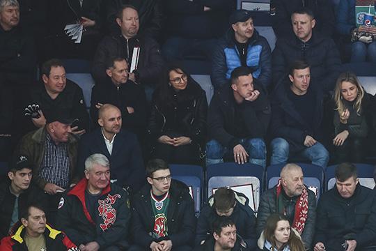 Менеджмент «Рубина» на матче «Ак Барса»