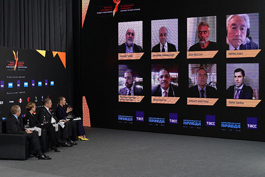 Международный онлайн-форум «Мир после коронавируса: взгляд изсердца Евразии» стартовал вчера вУфе. Все именитые спикерыучаствовали повидеосвязи