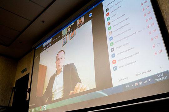 К видеоконференции подключили замначальника ИФНС РФ по Набережным Челнам Назиру Шарифуллину, а в саму ТПП пригласили Татьяну Дербеневу и Венеру Иванову