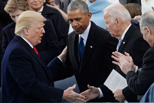 Дональд Трамп, Барак Обама и Джо Байден (слева направо)