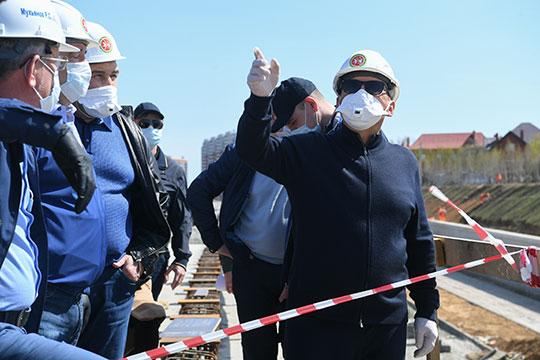 Сегодня президент РТ Рустам Минниханов объехал шесть госстроек Казани