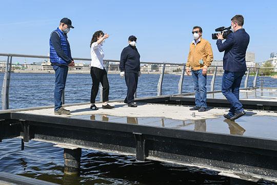 Напоследок президент побывал на благоустройстве второй очереди набережной озера Кабан от «Планеты фитнес» до ул. Назарбаева, завершить которое планируют к началу осени