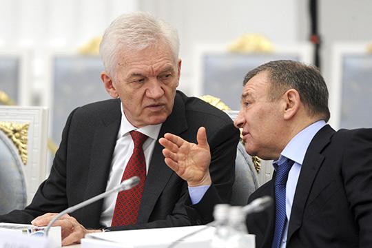 Наверхнем уровне, в«Политбюро 2.0» этот тип игроков представленГеннадием Тимченко (слева), братьями Ковальчуками иРотенбергами (справа), которые зачастую выступают вкачестве внешних кураторов для госкомпаний