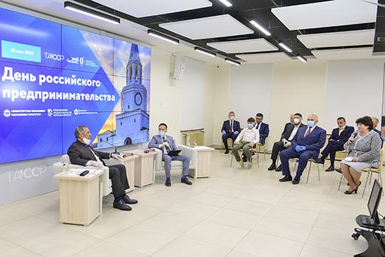 Рустам Минниханов: «Мыеженедельно смотрим, как организована работа сМСБ. Ноэто неговорит отом, что мытакие ужмолодцы, сделали все, чтобы предприниматели процветали. Нам еще много надо работать»