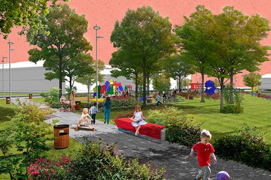 «Сквер свяжет дворы микрорайона и станет для жителей новой точкой притяжения»