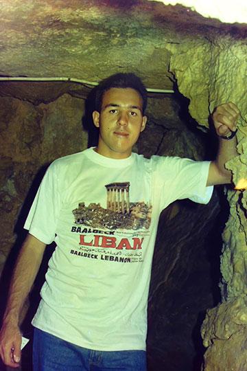 Азат Ахунов на стажировке в Ливане, 1995 г.