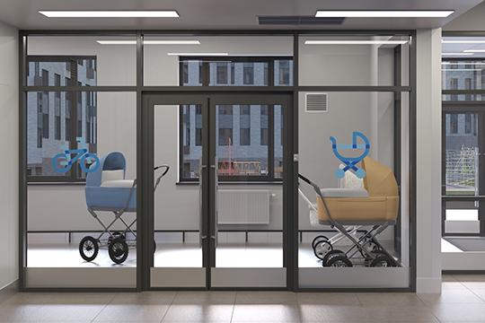 Подъезды вдомах— проходные. Напервом этаже каждого подъезда расположены просторные колясочные, места общего пользования продуманы испроектированы дизайнерами