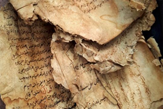 Грязь, пыль, грибок и плесень на татарских рукописях