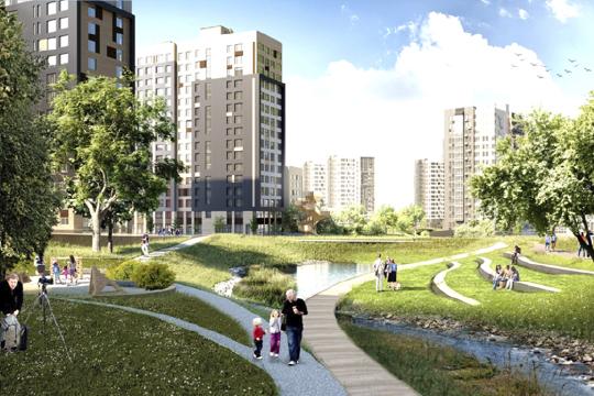 Одна из задач генплана — формирование природно-рекреационного каркаса Казани. Отсюда естественный крен в сторону крупномерного озеленения