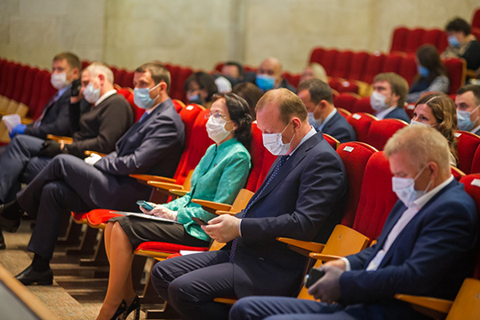 Партийная конференция городского отделения «Единой России» проходила в актовом зале городского центре детского творчества, в нем собрались 169 делегатов