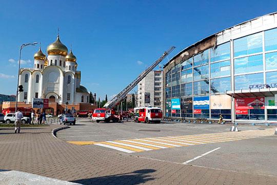 Директорам по развитию ТРЦ «Панорама» Ильдар Мингазов подтвердил, что возгорание произошло с наружной части здания