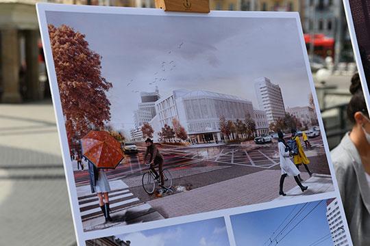 «Ваши рисунки, наверное, хорошие, покажите, как это будет», — сказал Минниханов, и в целом одобрил решения архитекторов, но попросил презентовать концепцию подробнее ему в кабинете