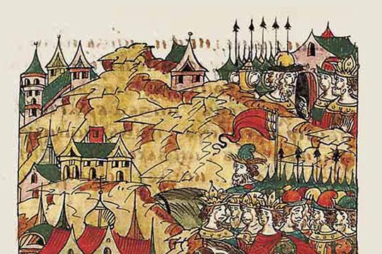 Москва выстояла, подмяла под себя другие княжества, апотом свергла власть ханов, нопри этом склонность кполитическому коварству итирании укнязей московских остались