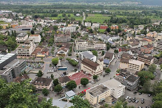 Панорама Вадуца – столицы Лихтенштейна