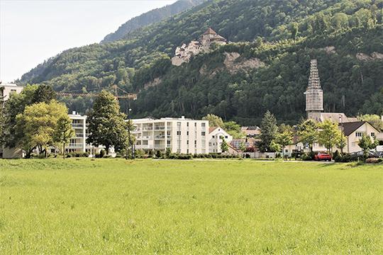 Княжеский замок Вадуц возвышается над столицей Лихтенштейна