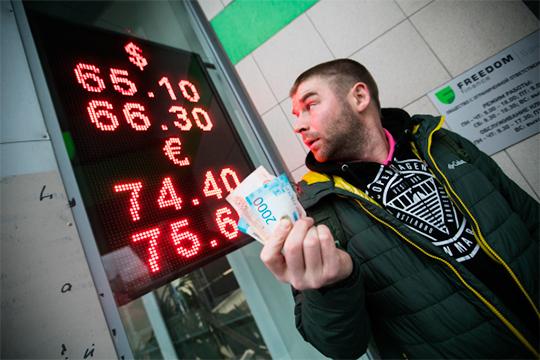 «Идет мягкое движение национальной валюты к равновесному значению для цен на нефть на полочке. Полочка — $60-70 за бочку на конец года. А для этой полочки равновесное значение по доллару — примерно 75 рублей»