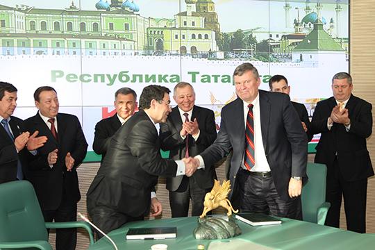 В конце 2011 года ТАИФ приобрела лицензию у американской Kellogg Brown & Root (KBR), а в 2012 году партнеры подписали соглашение о проектировании базовой установки