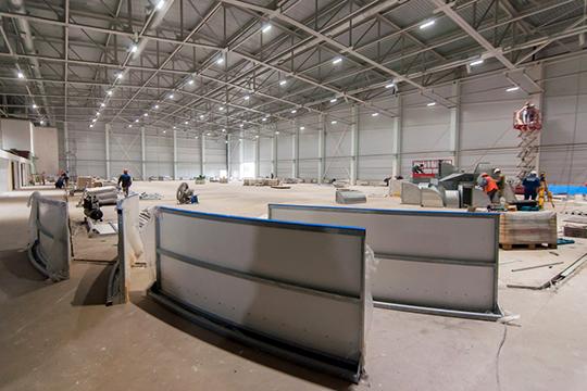 Строительство ледовой арены началось вфеврале этого года