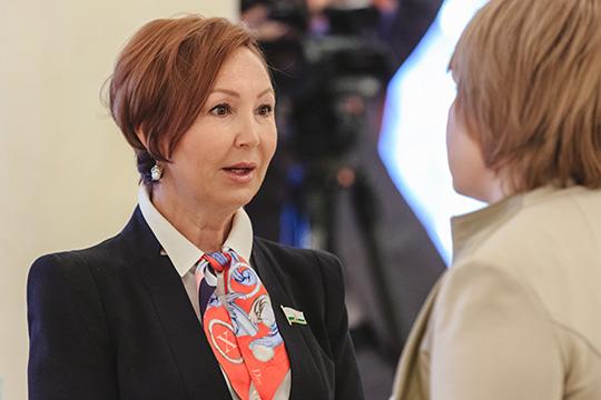 У Ляйли Гарифуллинойсемейный доход в2019 году составил 12,5млн рублей, изкоторых 8,8млн заработала сама депутат (в2018 году было 14,1 млн)