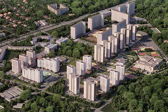 ЖК«Залесный Сити» сегодня уже живет. Здесь введены вэксплуатацию изаселены четыре дома. Пятый готов на60%, идет внутренняя отделка— ключи отквартир здесь жители начнут получать под Новыйгод