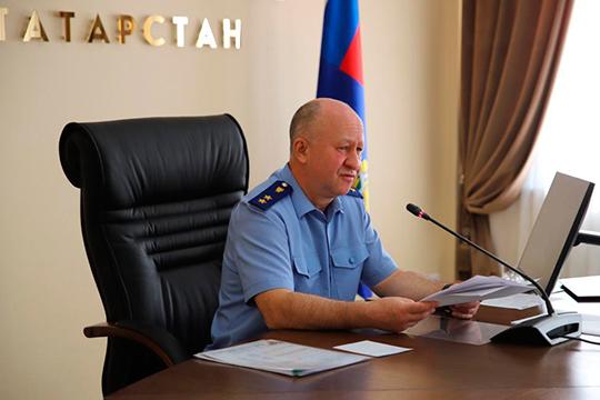 Сегодня прокурор Татарстана Илдус Нафиков представил вновь назначенного заместителя коллективу прокуратуры