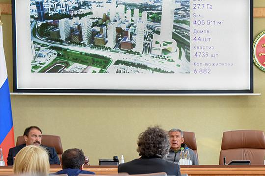 Громкое градостроительное предложение было высказано на этой неделе, когда президенту РТ представляли концепцию застройки квартала М8: а не перенести ли в этот «евроквартал» всех чиновников?