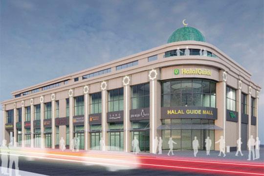 Архитектуру ТЦ отличает современный исламский стиль: с куполом и полумесяцем на крыше, а также звездами по периметру здани