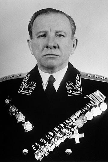 Адмирал Владимир Филиппович Трибуц. Репродукция Фотохроники ТАСС.