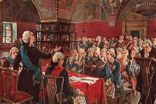 В работу Уложенной комиссии были включены депутаты из всех губерний и из всех сословий, среди которых оказалось много татар