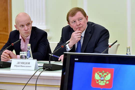 Юрий Николаевич (отец Андрея Демидова, справа), поработав на высоких должностях в МВД России, ушел в Госдуму