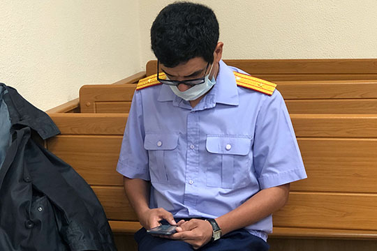 В суде материал Линевича поддержал старший следователь отдела Рустем Закирзянов