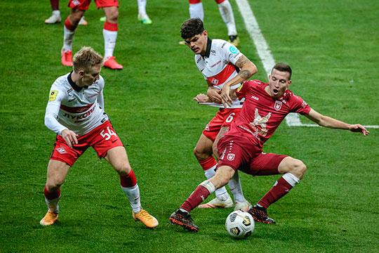 «Рубин» в 8-м туре чемпионата России на своём поле проиграл «Спартаку»