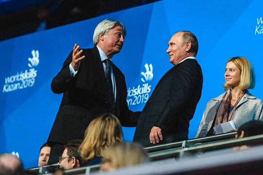 В торжественной церемонии закрытия WorldSkills принял участие президент России Владимир Путин
