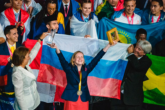 Россиянка Анастасия Камнева набрала самое большое количество баллов и стала обладательницей премии имени основателя мирового чемпионата WorldSkills Альберта Видаля