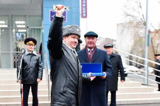 Алексей Ершов на открытии нового здания отдела полиции «Сафиуллина»