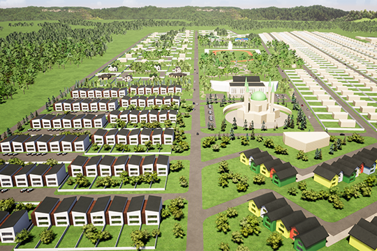Судя попроекту, масштабы впечатляющие: площадь поселка составляет 100 гектар, иуже размежёвано 397 участков. Ноглавное отличие отдругих проектов загородной недвижимости— необъемы, аконцепция