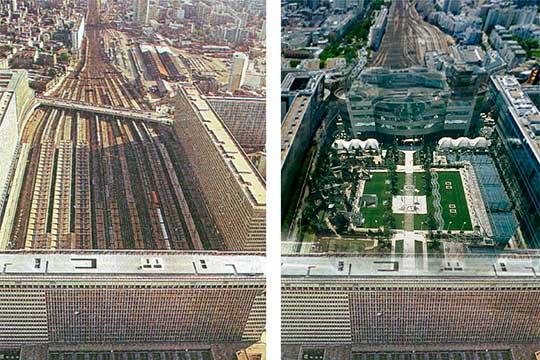 Всемирную известность Пена принес Атлантический сад в Париже. Это — парк площадью 3,5 гектара, «накрывший» собой железнодорожные пути парижского вокзала Монпарнас в 1994 году