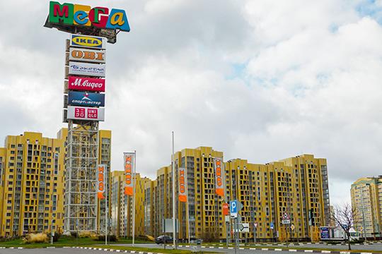 Новый этап редевелопмента «МЕГИ» стартовал 10 сентября. Рядом с ТРК уже строят отдельно стоящее здание, куда должен переехать один из якорных арендаторов — магазин OBI
