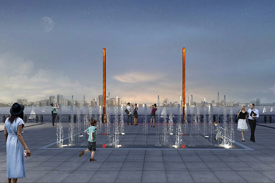 Одна из интересных архитектурных деталей — так называемые речные ворота. Гольдберг пояснила, что этот знаковый объект станет главной точкой притяжения горожан и туристов