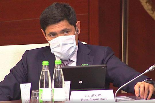В этот момент оператор крупным планом показал депутата Ирека Салихова. На рынке считается, что «Гринта» входит в орбиту его интересов, хотя официально это не подтверждено