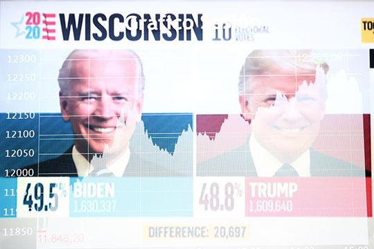 Спустя сутки после выборов Джо Байден увеличил отрыв от своего соперника Дональда Трампа: теперь у него уже 264 голоса выборщиков против 214 у Трампа